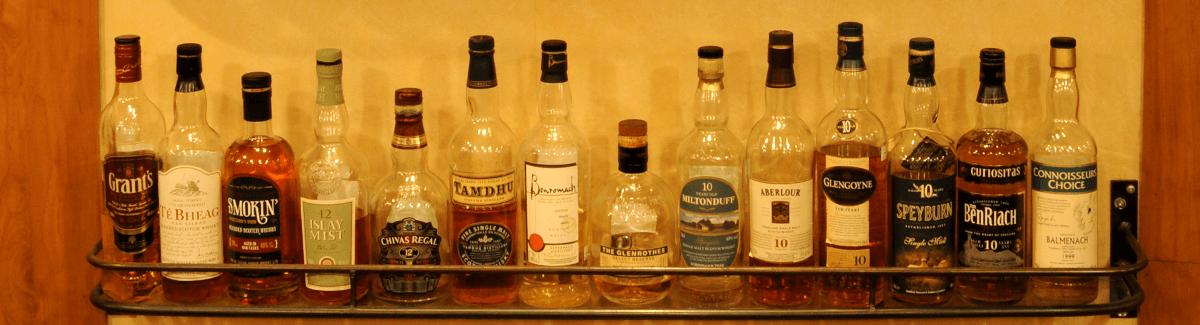 Une grande sélection de scotch et whisky